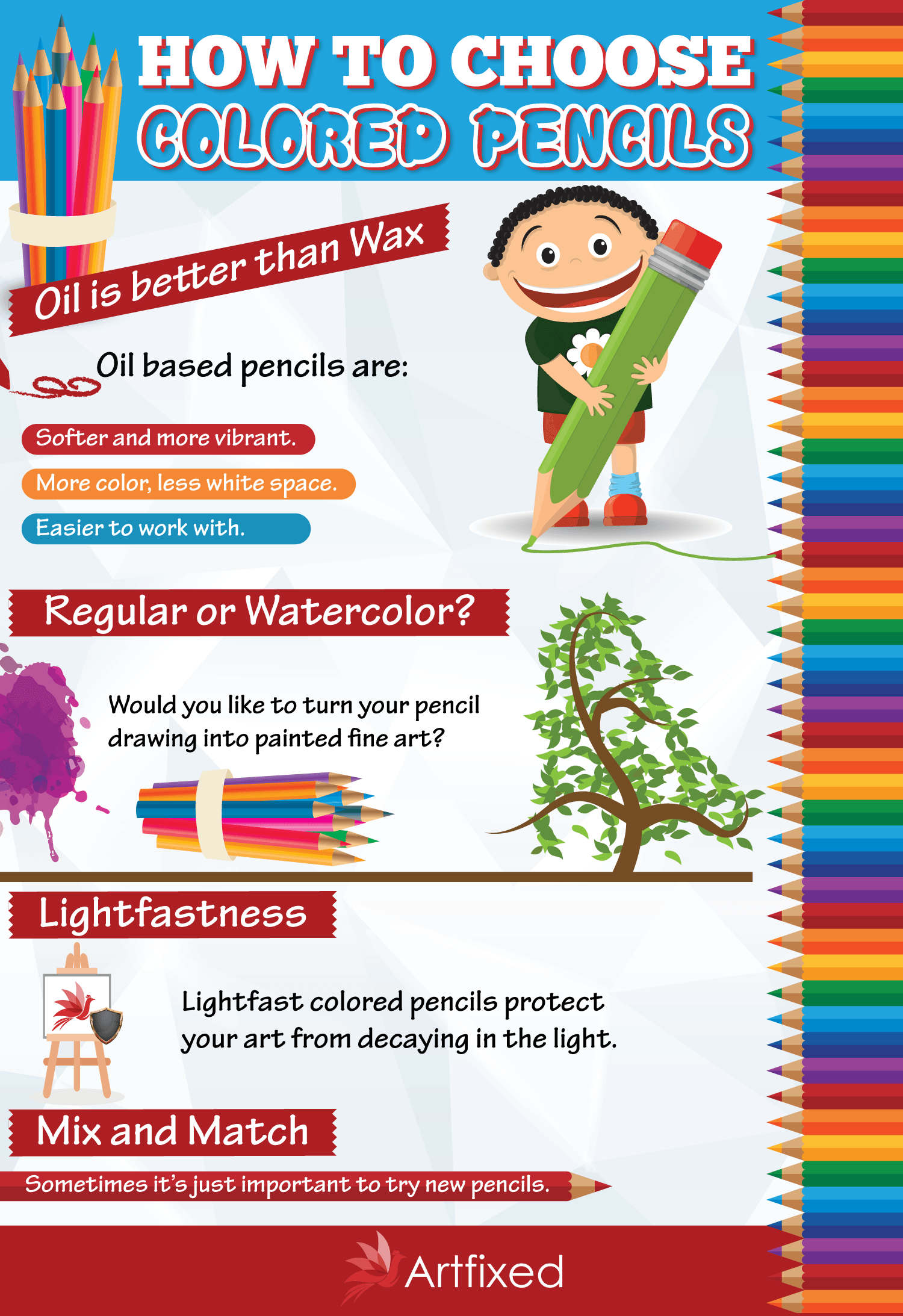 colored pencils infographic