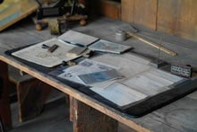 picture of a beautiful old drafting table