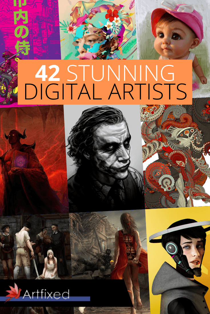 Once every summer Artfixed rounds up it's favorite artists across categories. In this round-up, I've handpicked exceptional digital artists around the globe that for one reason or another have stood out in the vast sea of talent. These are people who have been mentioned, linked or otherwise talked about without them knowing. Suprise! We also aim to shed some spotlight on some less known artists who have dazzled us with their craft. This list includes animatiors, graphic artists, designers. Anyone who has ever used drawing software or maybe a drawing tablet. #digital #artists #art #digitalart #artwork