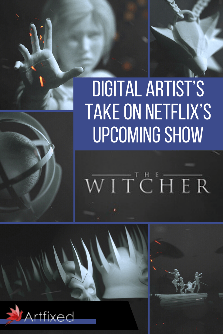 """Digital artist Florent Zunino has created his version for the opening credits of the upcoming Netflix TV-series """"The Witcher"""".  While the white sculptures are reminiscent of the Westworld opening credits, it comes to its own with the characters and themes of snow and flame familiar to the fans of the The Witcher universe by CD Project Red. The Witcher book series by polish author Andrzej Sapkowski has kept fans at the edge of their seats for years and is now receiving the mainstream attention it rightly deserves thanks to the video game and the upcoming series by Netflix. #digital #artist #witcher #digitalart"""